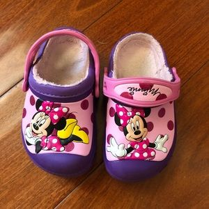 Minnie Mouse Crocs Toddler Size 8/9